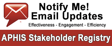 APHIS Stakeholder Registry