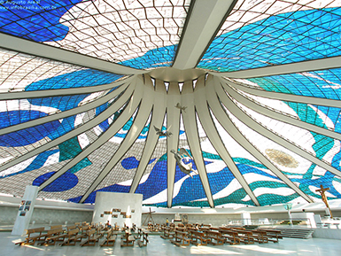 Inside Cathedral of Brasilia