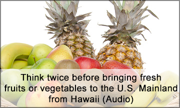 Fruits and Vegetables from Hawaii to U.S. Mainland