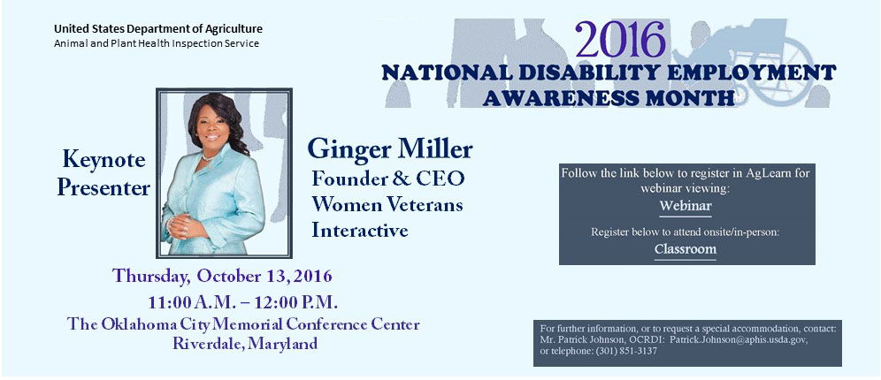 2016 National Disability Awareness Month Observance