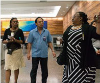 PPQ Honolulu Port Director, Anthony Nakamura, Leads tour inside Honolulu Airport (L. Cole and C. Dickens