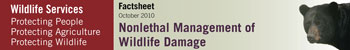 Nonlethal Management of Wildlife Damage Factsheet Title