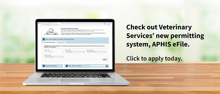 Discover-Apply-Save Time. APHIS efile - new online permitting system