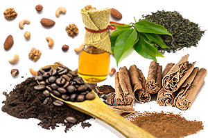 Coffee, Teas, Honey, Nuts and Spices