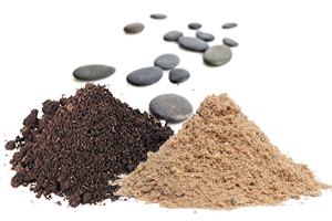 Soil, Peat, Sand, Clay, Rocks and Stones