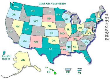 U.S. State Office Map